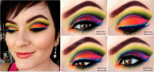 Rainbow in Spring + TUTORIAL by KatelynnRose