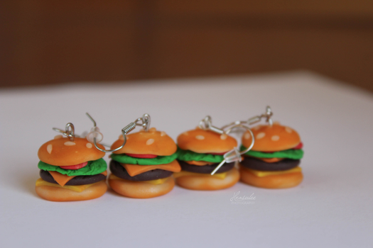 Polymer Clay Burgers by Hrasulee