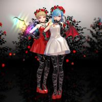 MMD TDA Styled Scarlet Sisters DL by HauntingHeart