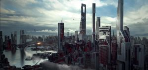 Scifi Cityscape by Long-Pham