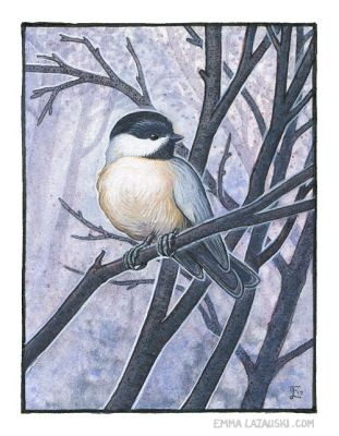 Chickadee Blues by emmalazauski