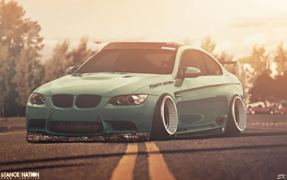 Stanced BMW M3 E92 by Sk1zzo
