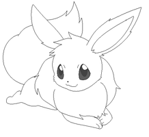 eevee lineart 10 by michy123