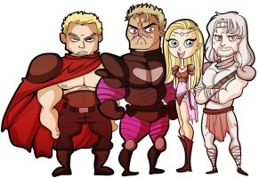 fist of the northstar - family by spoonybards