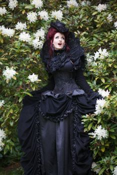 Stock - baroque vampire lady flowers hole body by S-T-A-R-gazer