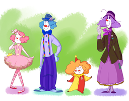 Clowns by The-Happy-Apple