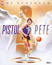 NBA - Pistol Pete Birthday Graphic by Che1ique