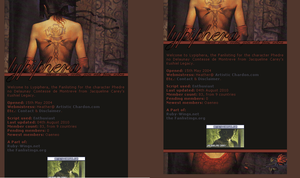 Old website design: Phedre by jadedlioness