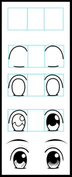 How to Draw Anime Eyes 1 by LeQueen