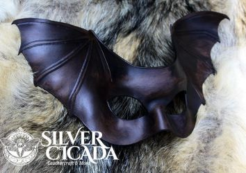 Leather Bat Wing Mask by SilverCicada