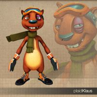 Xtreme Squirrels: Seppe 3D by plaidklaus