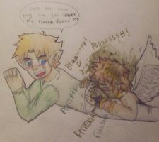 pit sniffing links farts by junie23