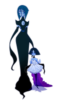 Ghost Diamond and Pearl by Howliezz