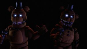 (sfm Fnaf 2) Unwithered Freddy And Withered Freddy by Galvatron2017