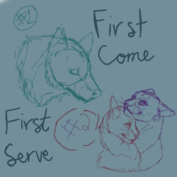 YCH first come first serve busts CLOSED by Endercat360
