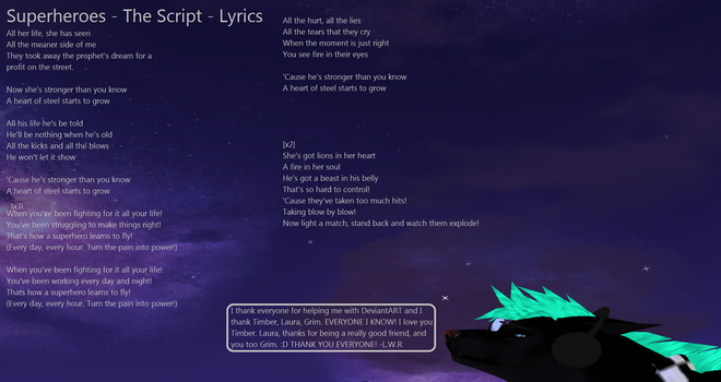 Superheroes - The Script - Lyrics by LoneWolfRival