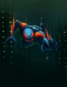 spiderman 2099 concept by sergiof
