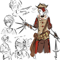 [Circus Oc's] Tyler the knife tosser by whimsical-idiot