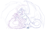 Dragon V Ukasha (WIP) by Impybutt