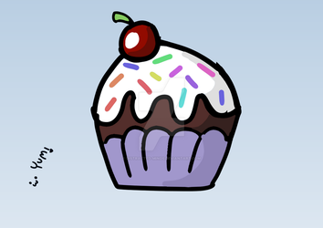 Cupcake! :3 by Distracted-Minds