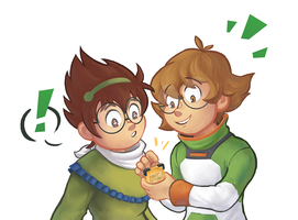 Pidge and Hiroshi by Wikyw