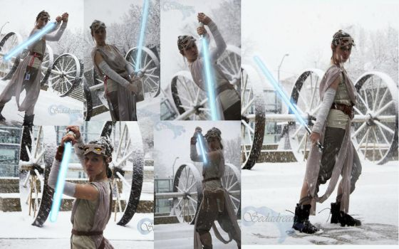 Rey Force Awakens Collage by AmmieChan