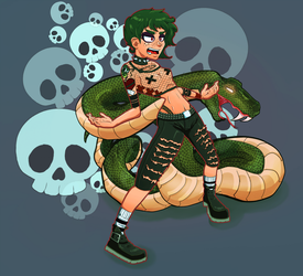 Punk Rock Snakey Chick by D1gg3R101