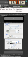 Clean Vertical Navigation by shapemaster
