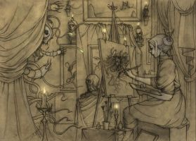 Hopeless, Maine RPG chapter cover 6-pencils by CopperAge