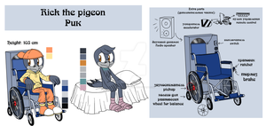 Rick the pigeon reference by lizathehedgehog