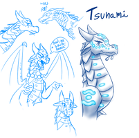 Sketches - Tsunami (WoF) by StarWarriors