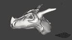 Scultping Dragon Head by WFpeonix