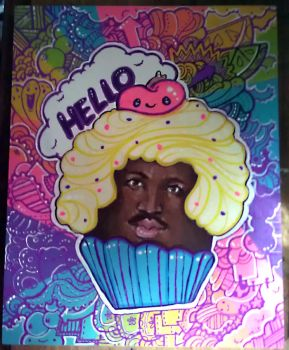Commission: Lionel Richie Cupcake by marywinkler