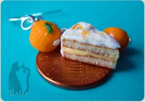 Orange Cake Earrings Size Ref by Talty