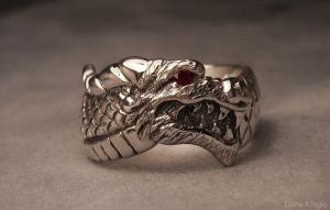 Dragon head ring by EagleWingGallery