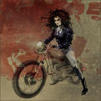 Brujah on a motorbike by Daywish
