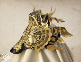 Leather Steampunk Horse Mask by b3designsllc