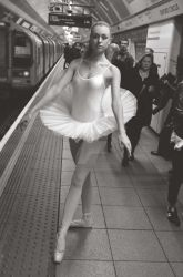 6. Street Ballerina - Oxford Circus Station by idjphotography