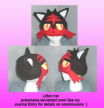Litten hat by PokeMama