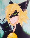 Cat Noir ( 2D original) by NightmaricArts623