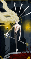 Adrian, Five of Swords by the-flying-beetle