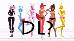 FINISHED! Models for Five Nights in Anime 2 by MikuTatsune25v