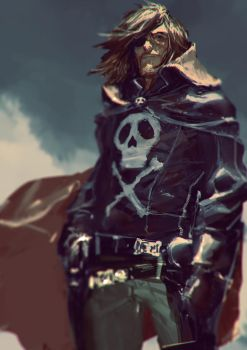 Captain Harlock / Albator Fan art by AldgerRelpa