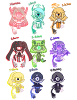 Tiny TV Xyns [1/9 OPEN] by hello-planet-chan
