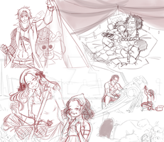 One Piece OC. Piortgas D. Family. WIP by HatoChan19