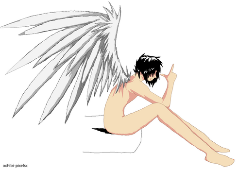 Emo Angel Boy - Base 4 by xChibi-Pixelsx
