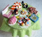 Miniature Easter spring table by miniacquoline