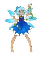 Touhou~Cirno (with a tan) by dream-thunder