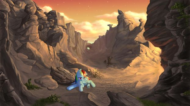 Dashie stuck between rock and a hard place by CountCarbon