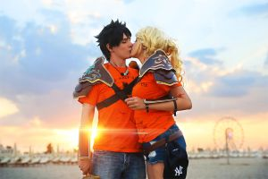 Percy Jackson and Annabeth Chase ~ Cosplay Love by Yamato-Leaphere